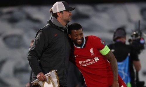 Georginio Wijnaldum 'says his goodbyes' to Jurgen Klopp amid Liverpool transfer exit twist