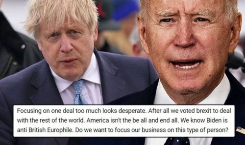 'Anti-British' Biden told to keep trade deal after blow to talks: 'Look elsewhere Boris!'