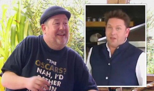 James Martin in hysterics as Johnny Vegas's phone goes off live on-air 'Hang on!'
