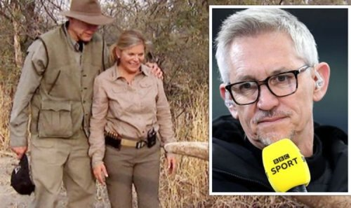 Lineker disgusted at 'abhorrent' hunter pair who cut off elephant's tail held it in air