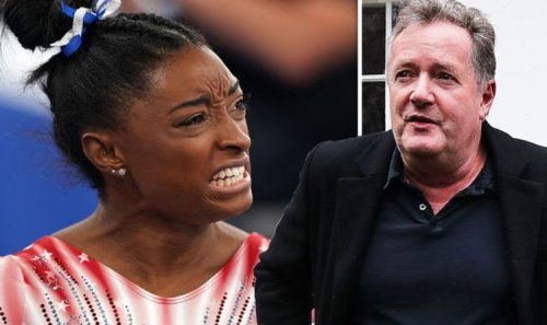 'Would rather shove it up my a**' Piers Morgan fires back at critic after Simone Biles win