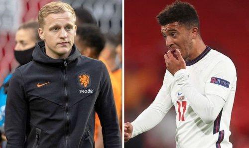 Donny van de Beek's stance on Jadon Sancho swap deal as Man Utd offer Dutchman to Dortmund