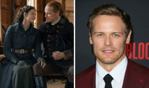 Outlander's Sam Heughan runs naked into 'icy' water on 'worst day of the year'