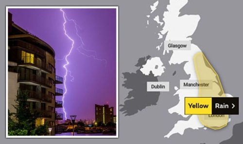 UK floods: New alert as thunderstorms to dump over half month worth of rain in HOURS