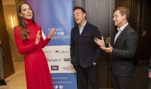 Kate Middleton teams up with Ant and Dec to get people talking about addiction