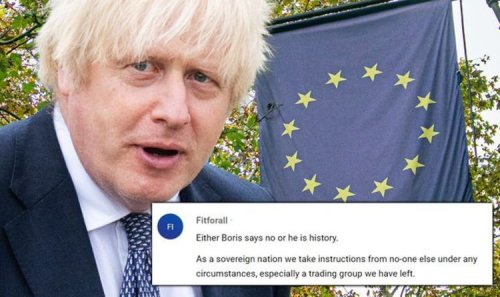Boris warned he will 'be history' if he orders UK councils to fly EU flag in new cash deal