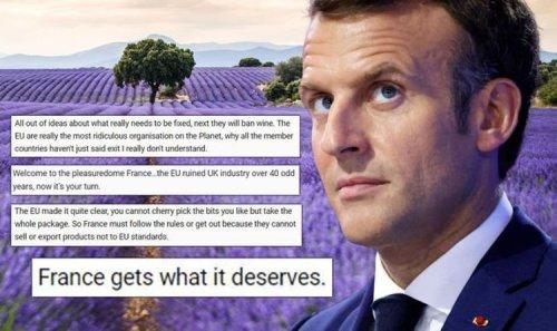 'France gets what it deserves for Macron's arrogance' Britons rage at bizarre lavender ban