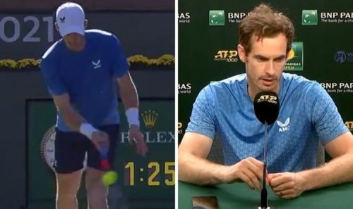 Andy Murray reacts to Indian Wells boos after copying Nick Kyrgios against Carlos Alcaraz