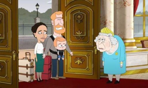 Americans mock 'broke' Harry and Meghan as Sussexes 'punished' by Queen in brutal cartoon