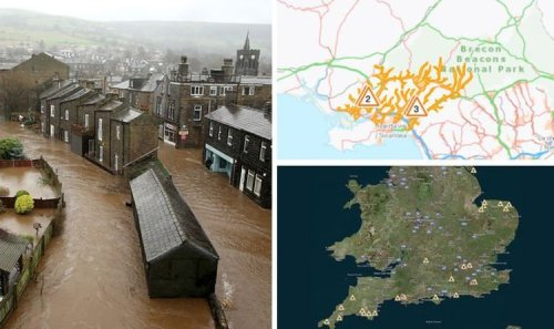 Flood warnings MAPPED: 32 alerts issued as Met Office warns of heavy rain and storms