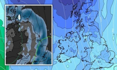 Cold weather forecast: Big freeze chart shows Britain hit by icy -3C Polar plunge - maps