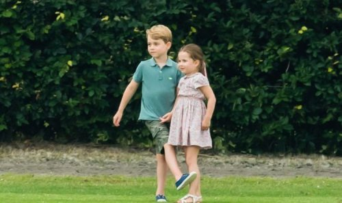 Princess Charlotte and Prince George seen playing with new puppy during day out with Kate