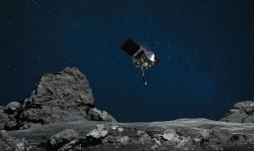 Asteroid Bennu rock sample on way to Earth attached to NASA's OSIRIS-REx spacecraft