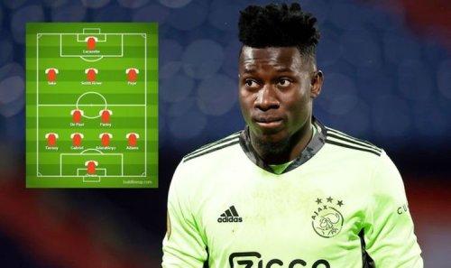 Arsenal's impressive XI next season as Andre Onana joined by three new transfer targets