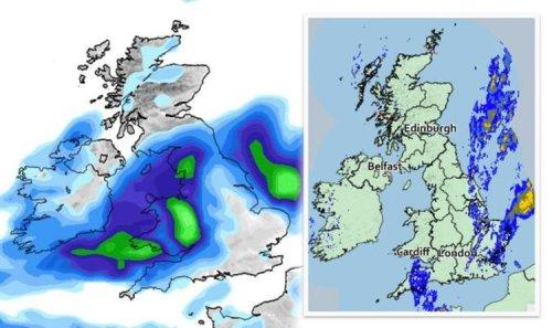 Rain radar LIVE: Torrential downpours to batter UK as 16 flood alerts issued