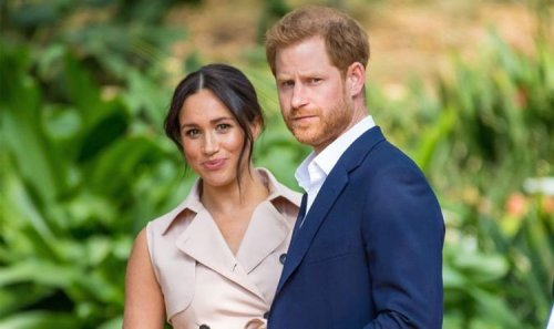 'Performed pose' Prince Harry and Meghan Markle showcase signature stance in Time shoot