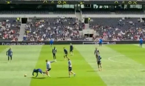 Tottenham star Tanguy Ndombele throws bottle and sulks after Eric Dier training tackle