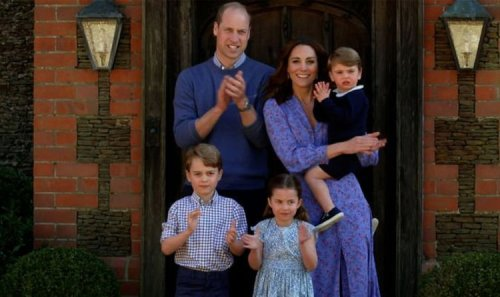 Royal holiday! George, Charlotte and Louis spotted at Heathrow airport with Kate William