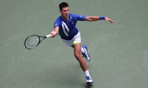 Novak Djokovic hits on US Open centre court ahead of Calendar Grand Slam attempt