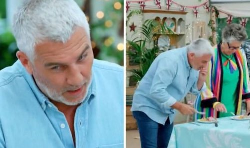 """Paul Hollywood nervous as he grills Bake Off contestant over 'raw' showstopper: 'Mushy"""""""