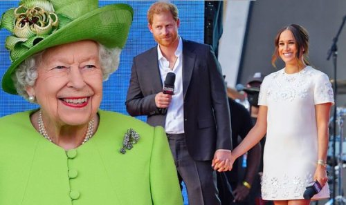 Royal Family LIVE: Queen extends olive branch to Harry Meghan as she bestows new honour
