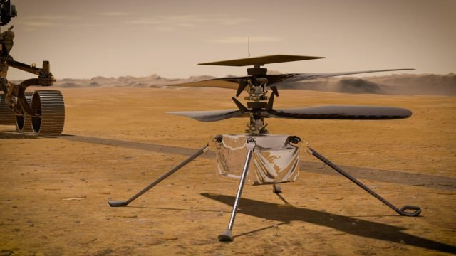 NASA's Mars Helicopter Powers Up in Space