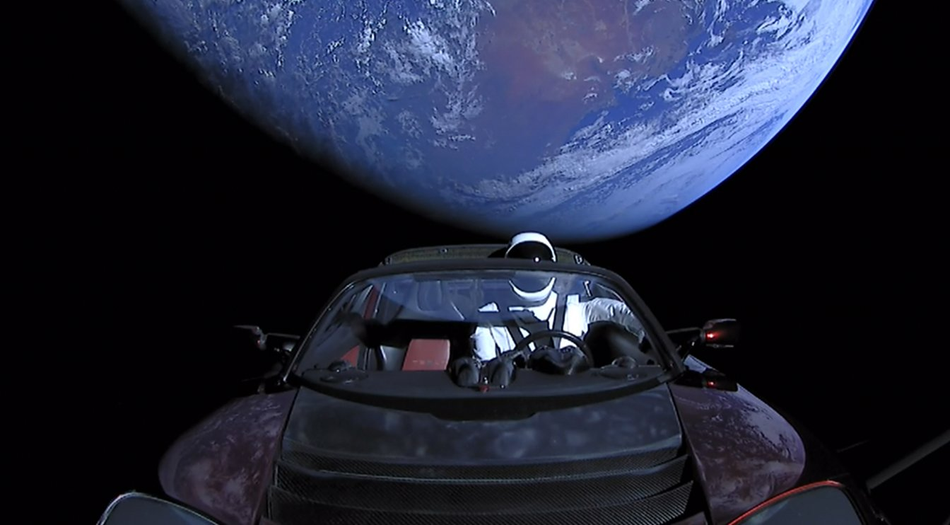 SpaceX: Starman Just Flew Elon's Tesla Past Mars for the First Time