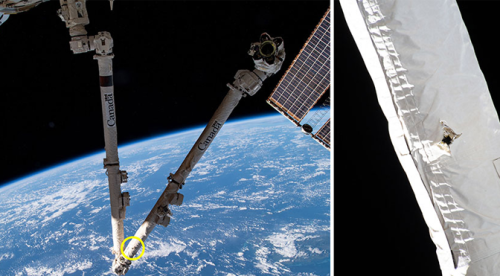 Space Junk Collided With the International Space Station's Robotic Arm