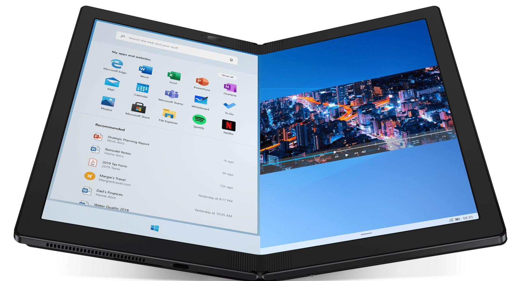 Lenovo Announces the X1 Fold, a Laptop-ish Device With a Foldable Screen