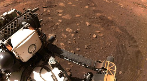 Perseverance Rover Spots a Dust Devil on Mars