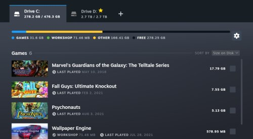 Steam Gives Storage Manager and Download Page a Much-Needed Refresh - ExtremeTech