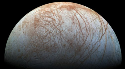 Europa May Have Underwater Volcanoes at Its Poles