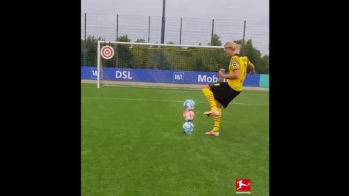 L'incroyable vidéo d'Erling Haaland à l'entraînement qui affole la toile