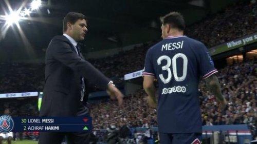 PSG-Lyon : remplacé en fin de match, Messi ignore Pochettino et ne cache pas son mécontentement