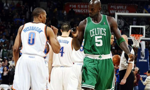 "Kendrick Perkins To Kevin Garnett: ""Man, Russell Westbrook Is Just A Smaller Version Of You As Far As His Mentality."""