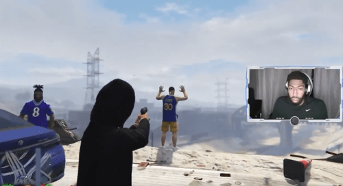 Anthony Davis Savagely Shoots Steph Curry In GTA Role Play
