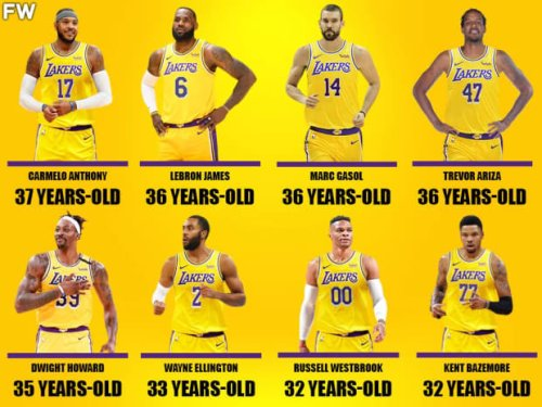 NBA Fans React To Lakers Super Old Team: 'Lakers Managed To Build An entire Retirement Home In Only 3 Hours. Very Impressive'
