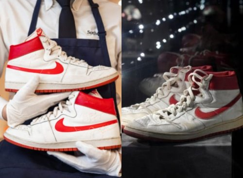 Michael Jordan's 1984 First Game-Worn Nike Air Sold For $1.5 Million