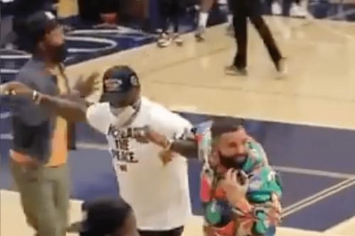 LeBron James And Drake Attended Bronny James' Playoffs Game