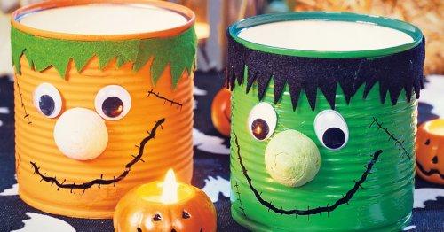 Halloween-Beleuchtung aus Konservendosen basteln: So einfach geht's