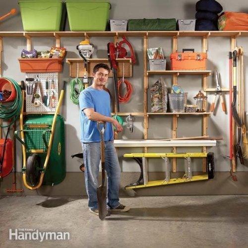 Garage Storage Solutions: One-Weekend Wall of Storage