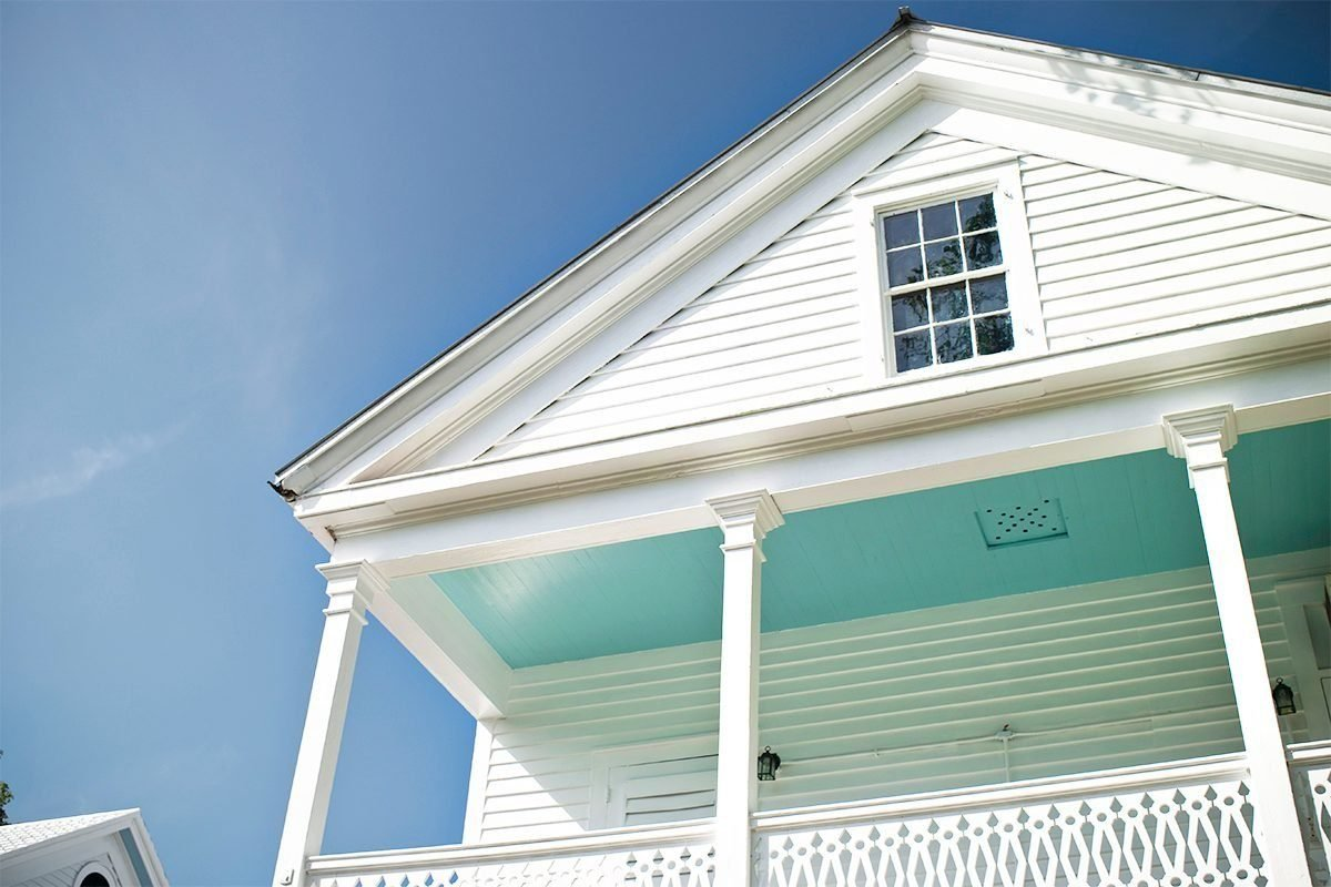 If You See a Blue Porch Ceiling, This Is What It Means