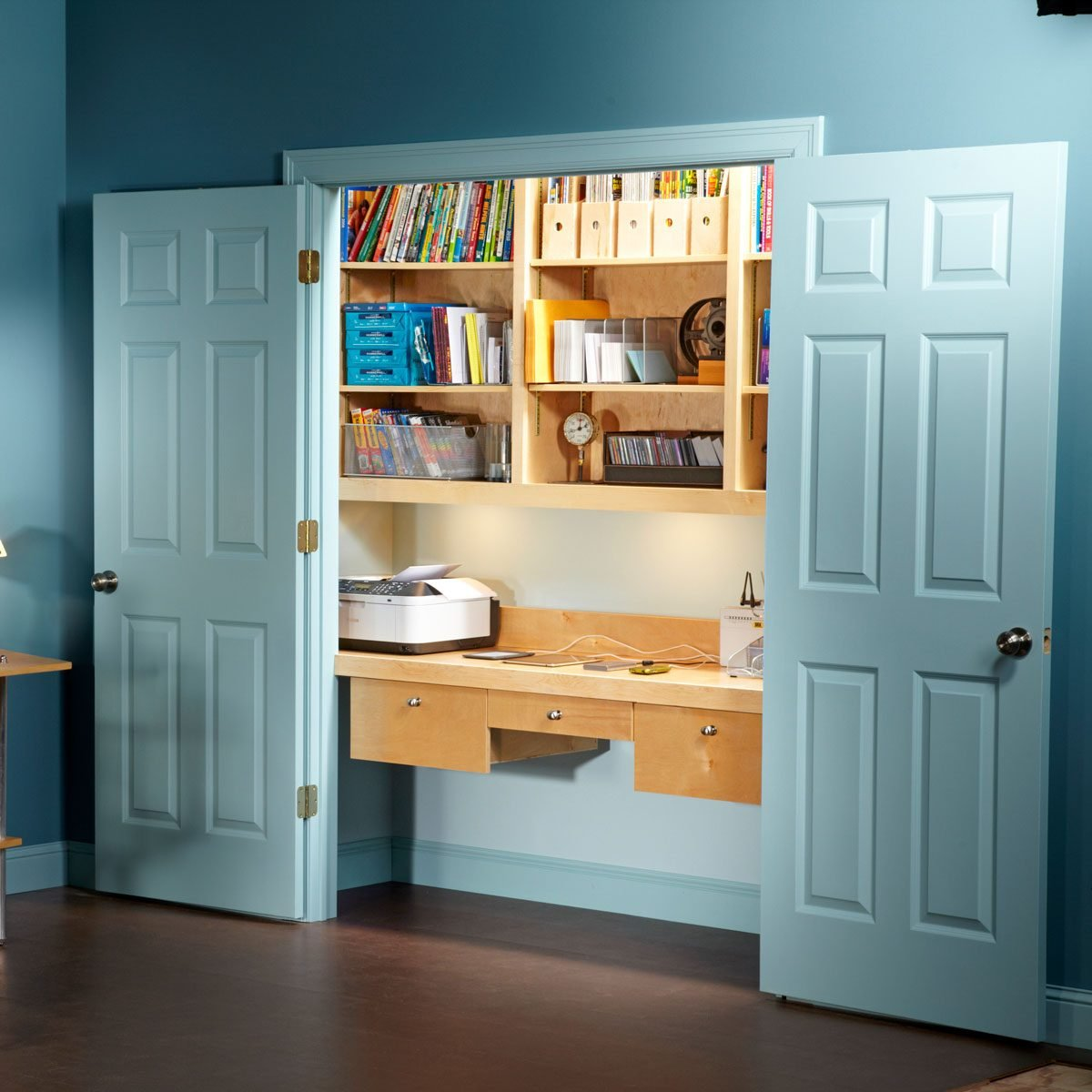 How to Turn a Closet Into an Office
