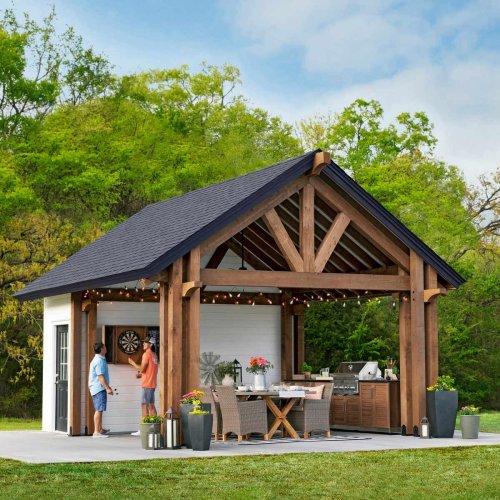 How To Build a Kitchen Pavilion Shed: DIY Plans