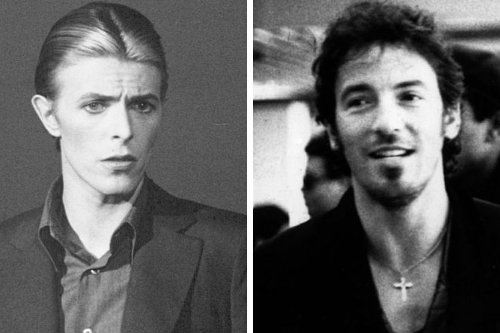 David Bowie once recorded a cover of Bruce Springsteen but it was rejected by The Boss