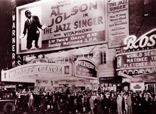 Looking back at 'The Jazz Singer', the very first 'talkie' film