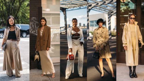 Everyone Wore Soft Neutrals on Day 4 of New York Fashion Week