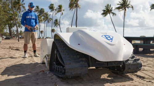 This beach-cleaning robot sifts sand for the tiny plastics that humans miss