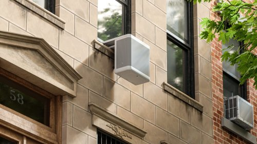 This sleek, climate-friendly cooling unit reduces the footprint of HVAC by 75%