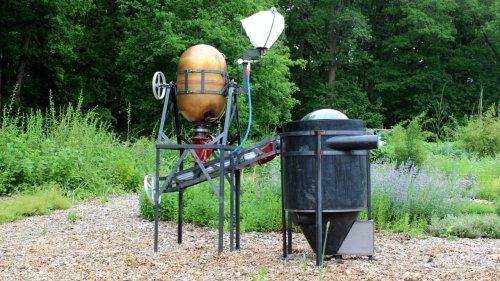 This gleaming machine turns human poop into fertile soil